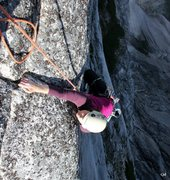 Rock Climbing Photo: Katie reaches the top out jug - such an incredible...