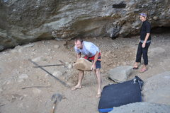 Rock Climbing Photo: Tom challenged everyone to a Strong Person Contest...