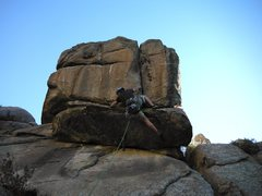 Rock Climbing Photo: Pulling the first crux