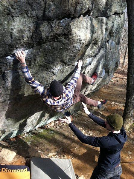 Rock Climbing Photo: iron cross.... Lincoln woods ri
