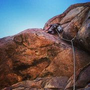 Rock Climbing Photo: last pitch of cross trainer...