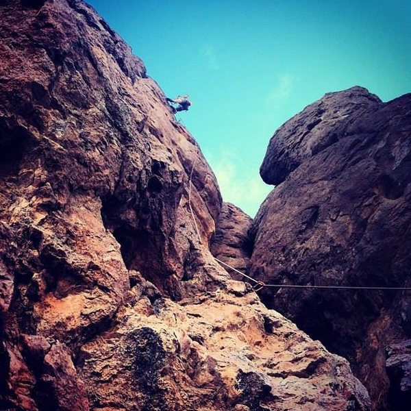 Rock Climbing Photo: unkown climb at the rough and readys outside las c...