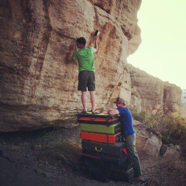 Rock Climbing Photo: stacking pads