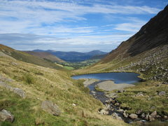 Rock Climbing Photo: Looking down the Scope Beck. Newlands  Valley towa...