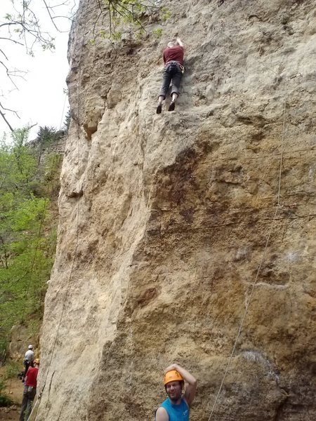 Rock Climbing Photo: Nice belay Geoff!  Having fun on Jump Start.