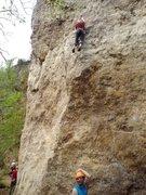 Rock Climbing Photo: Nice belay Geoff!  Having fun on Jump Start.