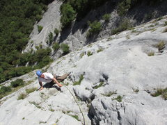 Rock Climbing Photo: Rodger on 46th Parallel.