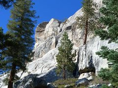 Rock Climbing Photo: Trapper Dome (South Face) from the trail, Courtrig...