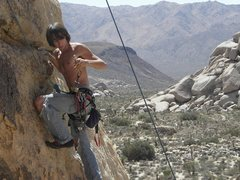 Rock Climbing Photo: Tyler Gilson cleaning