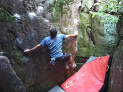 Rock Climbing Photo: Start position for the variation: Balltick.  See d...