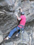 Rock Climbing Photo: Adam at the start.
