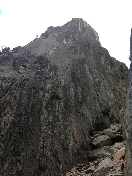 Rock Climbing Photo: Looking up the West Ridge of Castle Dome. (iPhone)