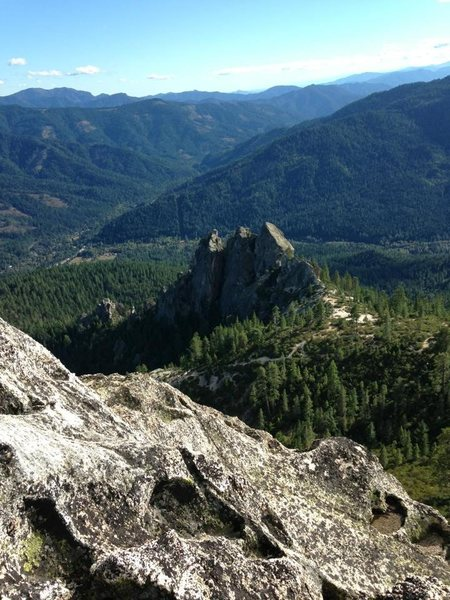 Rock Climbing Photo: View  South West from the Summit of Castle Dome.