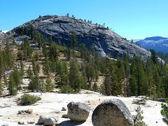 Rock Climbing Photo: Approaching the west face of Punk Rock, Courtright...
