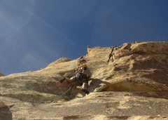 Rock Climbing Photo: coming up to the crux