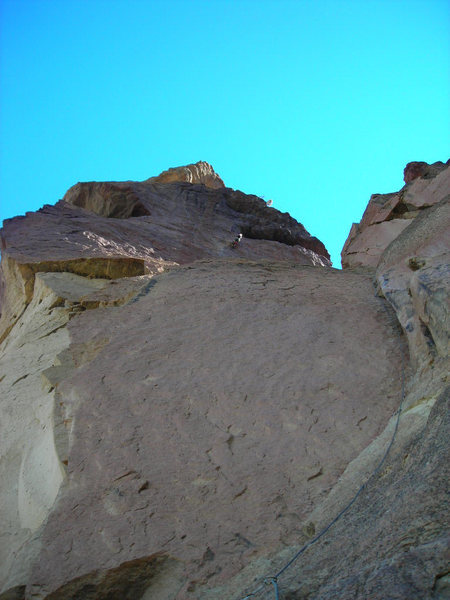 Rock Climbing Photo: Looking up from top of the first pitch