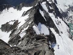 Rock Climbing Photo: rapping the ridge