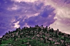 Rock Climbing Photo: East Draw before a storm.   © 2013 Ken Cangi, All...
