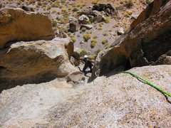 Rock Climbing Photo: Off route, but loving the adventure