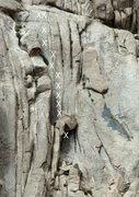 Rock Climbing Photo: Basic layout of the climb and bolts.