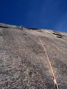 Rock Climbing Photo: Baldy on the 2nd pitch of Blurry Eyes