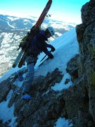 Rock Climbing Photo: Traversing into the Molar Tooth notch just south o...