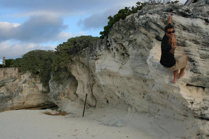 Beach Bouldering(if you can call it that) Cancun