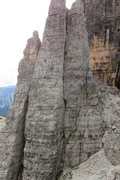 "Rock Climbing Photo: A party of 2 climbers high on the ""Verschneid..."
