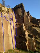 Rock Climbing Photo: A - Embankment 3 B - Time for Tea C - Tea for Two ...