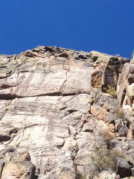 Rock Climbing Photo: Close up of the upper pitch of CB Crack.