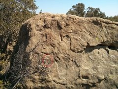 Rock Climbing Photo: Left hand side of Ace's Traverse.  Look for the AC...