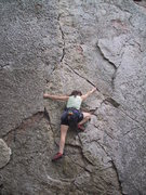 Rock Climbing Photo: My favorite section of this route. This position i...