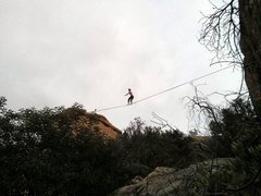 Rock Climbing Photo: A slackline at Stoney Point?!  Cool!