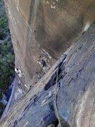 Rock Climbing Photo: 4th pitch of dark shadows.