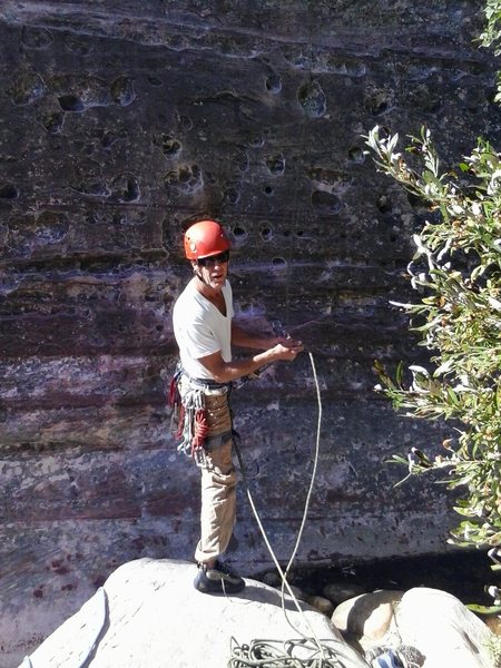 Rock Climbing Photo: Fresh feet,,1st pitch