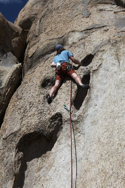 Rock Climbing Photo: Starting up the long hueco features