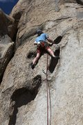 Rock Climbing Photo: Starting up the long hueco features