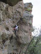 Rock Climbing Photo: Aaron Miller contemplating the steep terrain ahead...