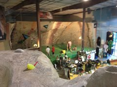 Rock Climbing Photo: View of dyno area and front desk.