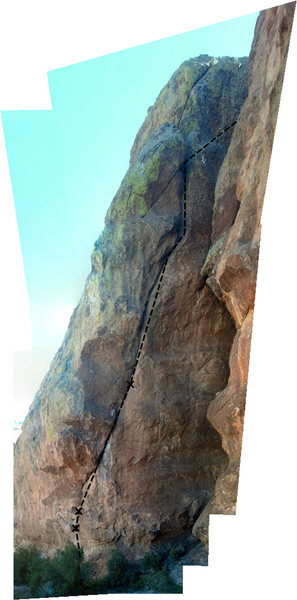 Rock Climbing Photo: Rotten reality: Three bolts and gear to the 2 bolt...