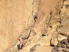Rock Climbing Photo: Starting the 1st pitch