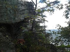 Rock Climbing Photo: Odysseus roof boulder. There is some fun boulderin...