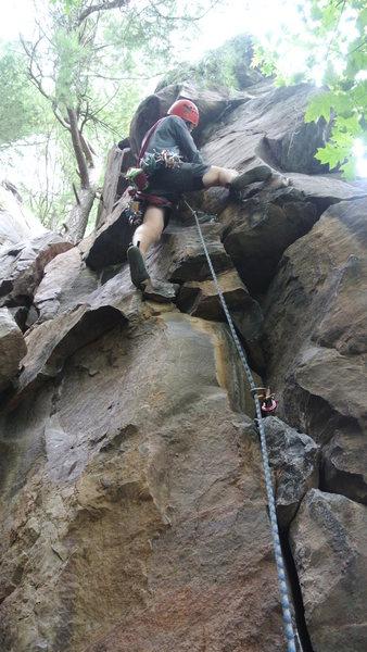 Rock Climbing Photo: Current Hoofer's club Prez, Aaron Wait, firing...