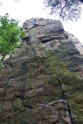 """Rock Climbing Photo: Dunbar in stem mode most of the way up """"Tower..."""