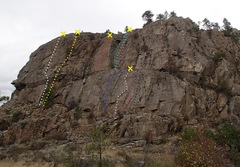 Rock Climbing Photo: Banded Wall - upper and lower cliffs.