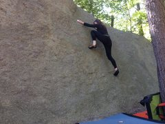 Rock Climbing Photo: Kristen trusting her feet on Young Adult Friction.