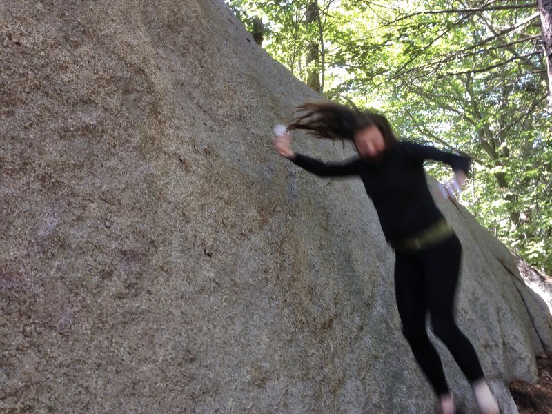 Rock Climbing Photo: Kristen experiencing a loss of friction on Young A...