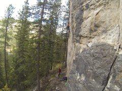 Rock Climbing Photo: Jamie and Alyson at The Asylum.