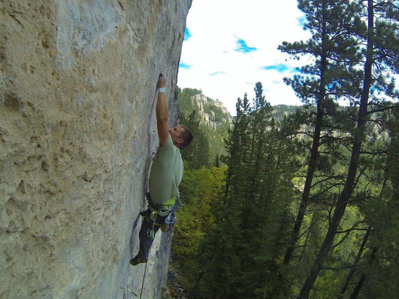 Rock Climbing Photo: Carl fights Mephistopheles, 5.13a