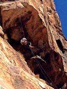 Rock Climbing Photo: Rappellim Meteor. El cajon mtn.